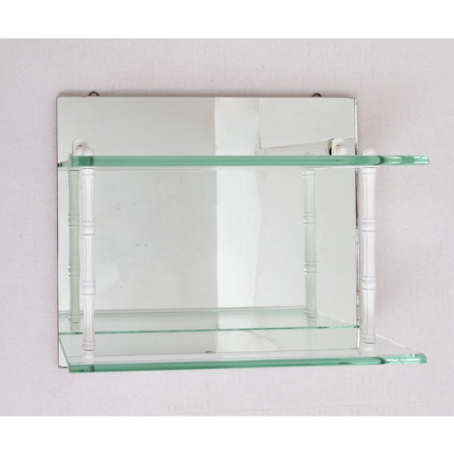 Hanging Mirror and Glass Shelf or Curio Display For Sale - Image 10 of 10