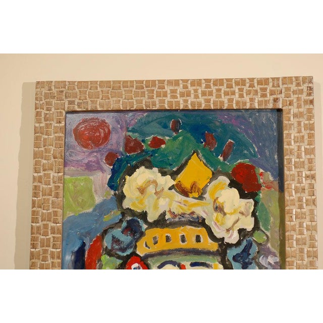 Fauvist Oil on Board Abstract Painting by Hungarian Artist Miklos Nemeth For Sale In Atlanta - Image 6 of 8