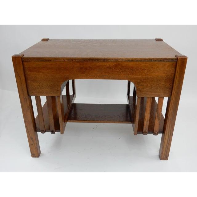 Antique Mission Arts & Crafts Oak Library Desk 38