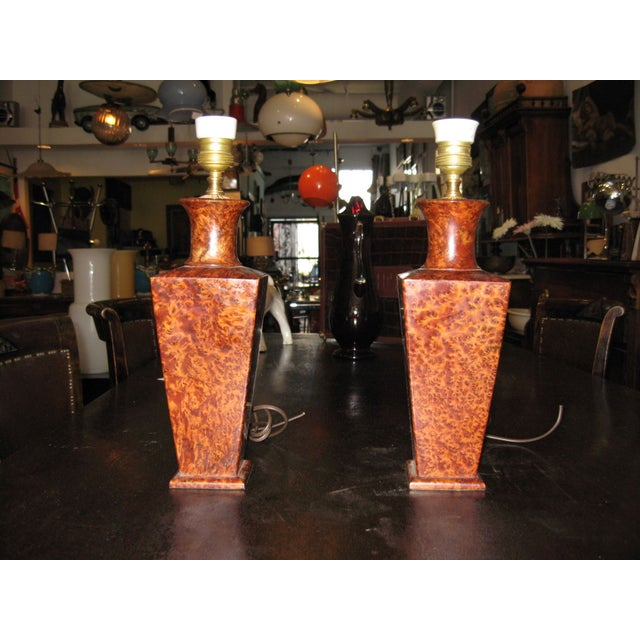 Deco Italian Lamps - a Pair For Sale - Image 4 of 4