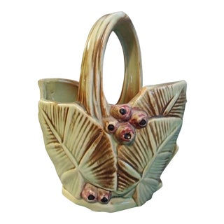 McCoy Berry & Palm Leaf Basket Vase