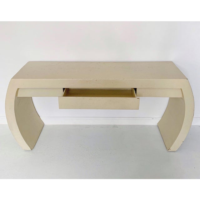1980s 1980s Contemporary Waterfall Plaster Console Table With Drawer For Sale - Image 5 of 11