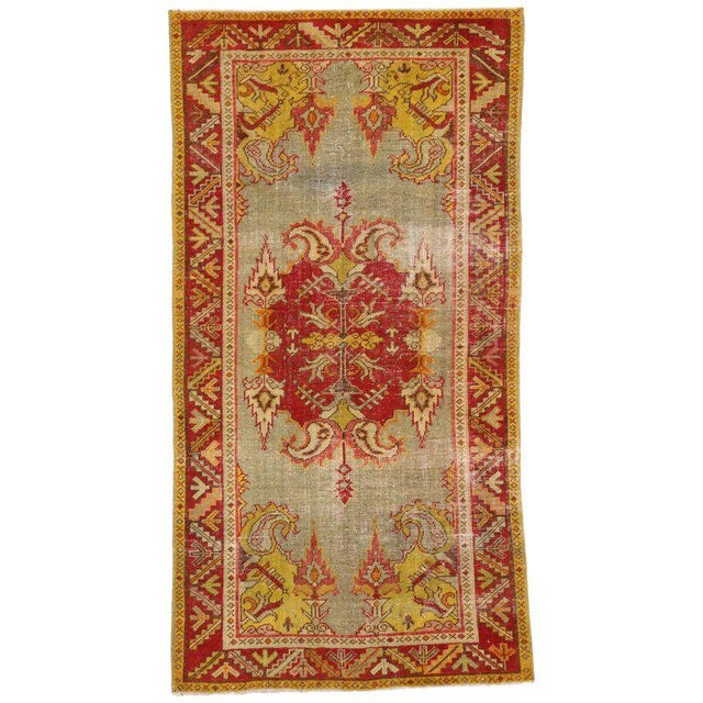 20th Century Turkish Style Distressed Oushak Rug For Sale In Dallas - Image 6 of 6