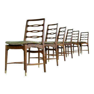 Set of Six Ole Wanscher Attributed Danish Midcentury Dining Chairs For Sale