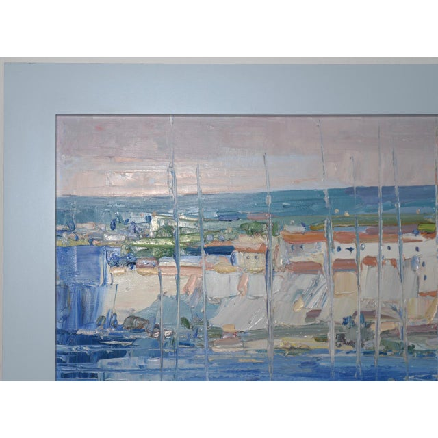 "Italo Botti ""Mast Reflections"" Impasto Oili Painting C.1987 For Sale - Image 4 of 6"