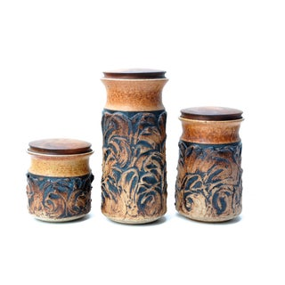 Victoria Littlejohn Ceramic Canisters - Set of 3 For Sale