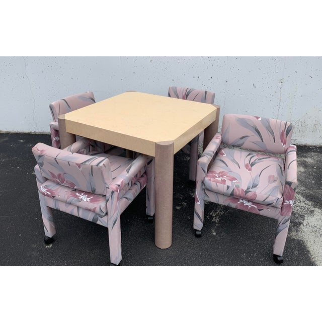 1980s 1980s Vintage Thayer Coggin Parsons Chairs- Set of 4 For Sale - Image 5 of 7