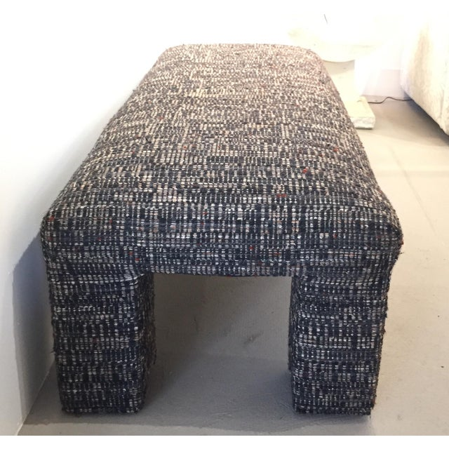 Vintage Tweed Upholstered Bench - Image 6 of 6
