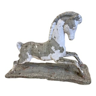 1970s Vintage Concrete Horse For Sale