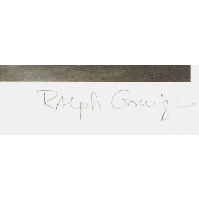 Modern 1972 Ralph Goings Paul's Corner Cushion Offset Lithograph For Sale - Image 3 of 3