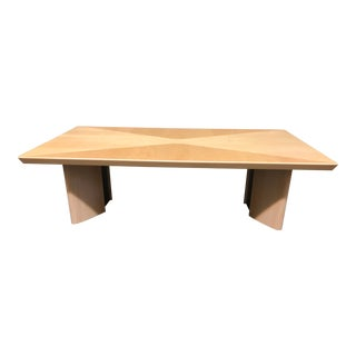 Alf Italy Modern Blonde Coffee Table For Sale