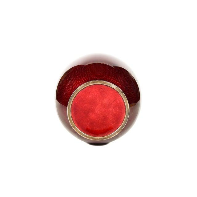 Red Antique Japanese Red Cloisonne Vase For Sale - Image 8 of 9