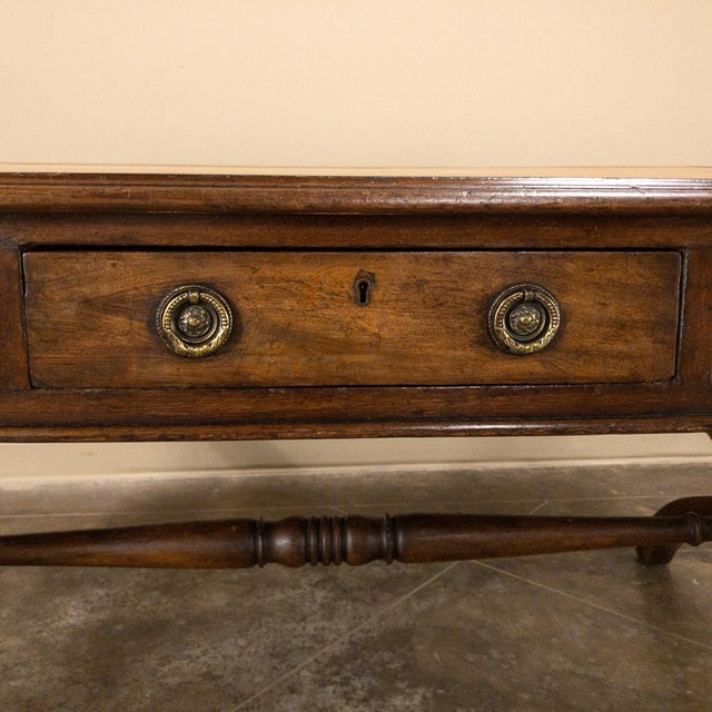 19th Century English Mahogany Leather Top Desk For Sale - Image 10 of 13