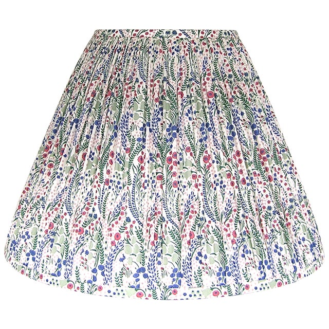 Pleated Floral Lamp Shade, Liberty London Fabric For Sale - Image 4 of 7