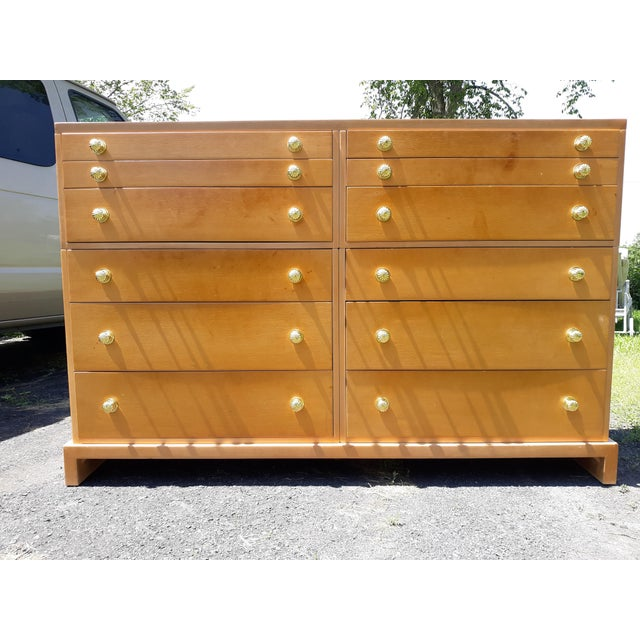 1940's C. G. Kimerly for Widdicomb 12 Drawer Chest For Sale - Image 13 of 13