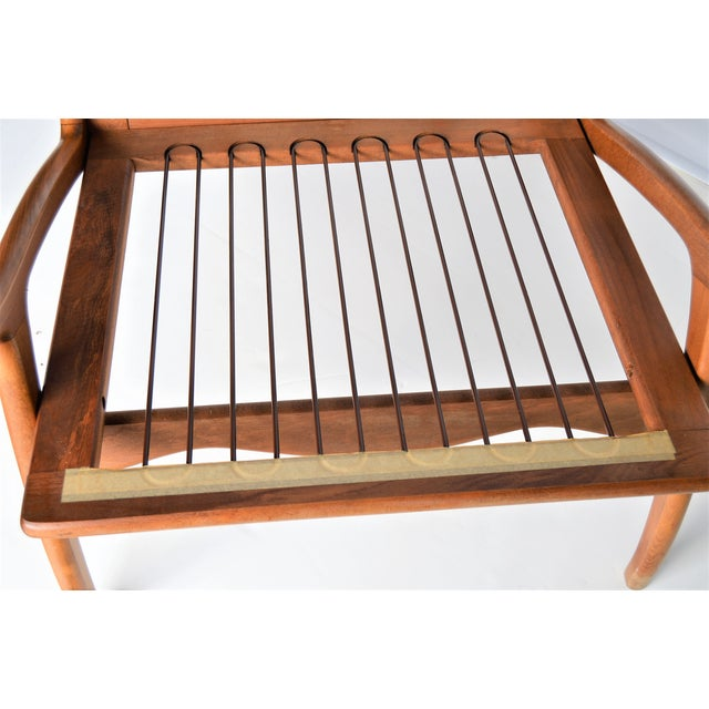Mid Century Danish Modern Solid Teak Selig Style Lounge Chair Inspired by Poul Jensen or Ib Kofod-Larsen - Image 8 of 12