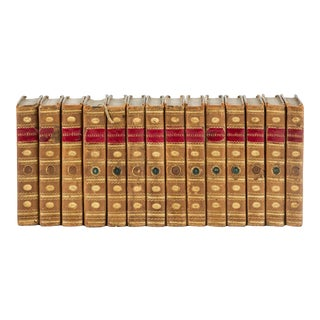 Late 18th Century French Volume Set, Oeuvres Completes D'Helvetius, 14 Books For Sale