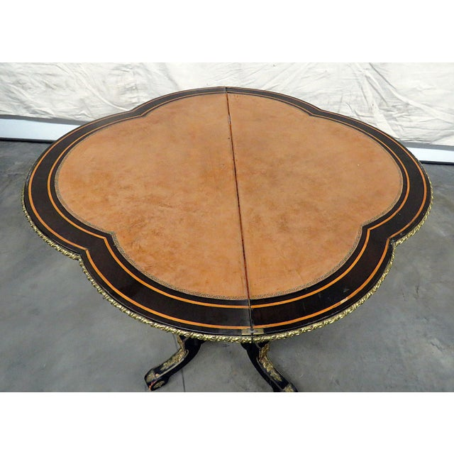 Louis Philippe Flip Top Card Table For Sale - Image 9 of 10