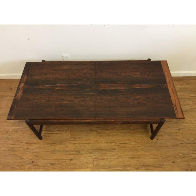 Danish Mid-Century Modern Rosewood Flip Top Coffee Table For Sale - Image 9 of 11