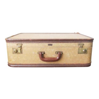 Vintage Tan and Apricot Suitcase