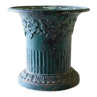 19th Century Iron Jasmin Planter Urn For Sale
