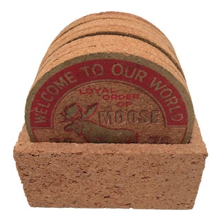 8 Cork Loyal Order Of Moose 78-79 Award Coasters For Sale