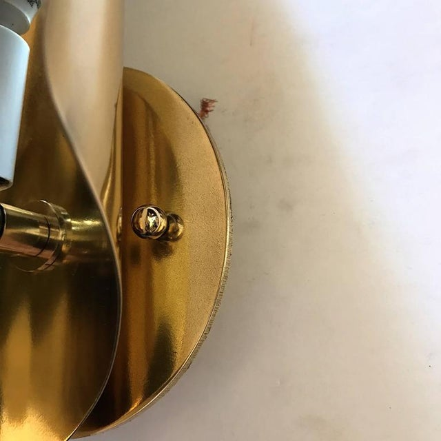 1970s 1970s Mid-Century Modern Charles et Fils Brass Wall Lights - a Pair For Sale - Image 5 of 6