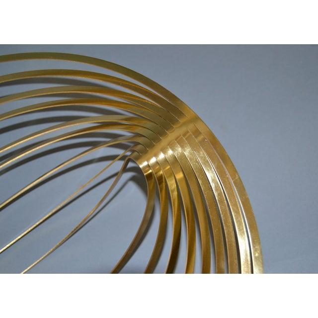 Metal Modern Sculptural Golden Brass Rocking Bowl, Eight Mood, Sweden For Sale - Image 7 of 11