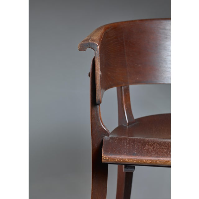 Beech Ernst Rockhausen Bauhaus Style Plywood and Oak Chair, Germany, circa 1928 For Sale - Image 7 of 9