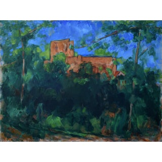 """""""Chateau Noir, Study of a Cezanne Landscape"""" Contemporary Painting by Stephen Remick, Framed For Sale"""