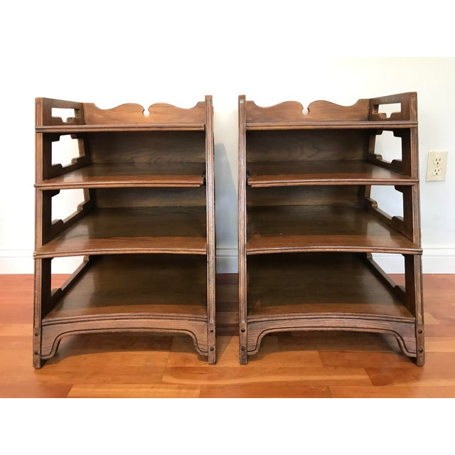 Romweber Viking Oak End Table Nightstands Magazine Shelf 5712 5-950 Arts and Crafts - a Pair For Sale - Image 13 of 13