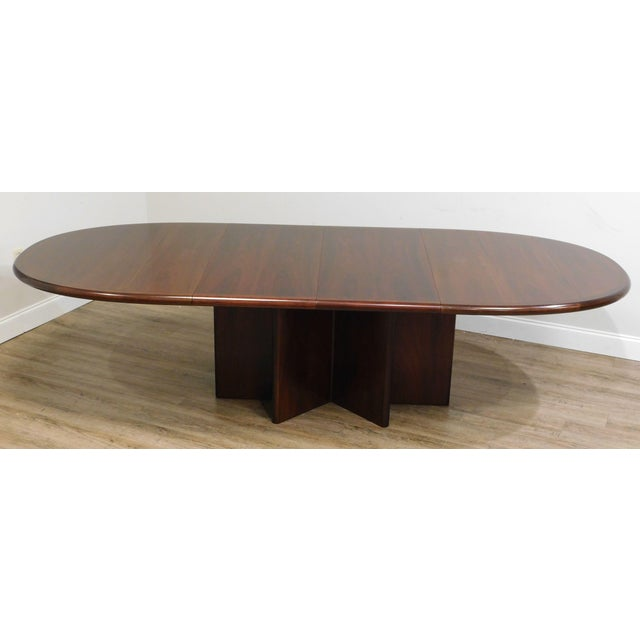 Danish Modern Oval Teak Expandable Dining Table by Ansagar Mobler For Sale - Image 4 of 13