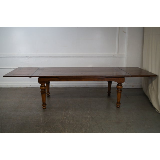 Rustic Farmhouse Style Refractory Dining Table - Image 7 of 10