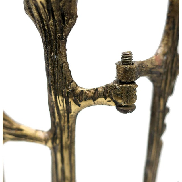 Brutalist Brass Candleholder For Sale In New York - Image 6 of 9