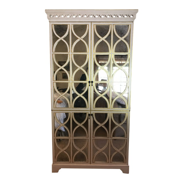 Shabby Chic Oly Studio Elisabeth Cabinet Armoire For Sale