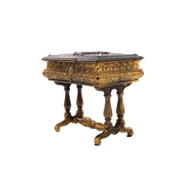 19th century Antique Gilt Bronze Jewelry Box- Miniature Sawing Box - Image 4 of 9