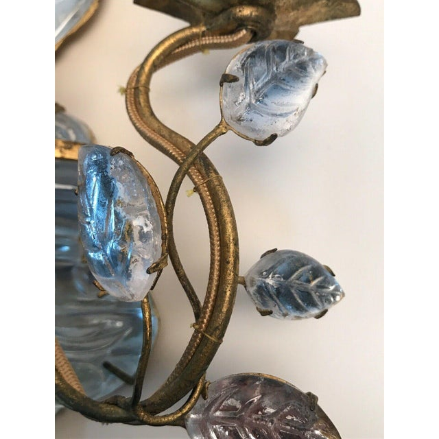 Glass French Art Deco Maison Bagues Paris Crystal Parrot Sconce/ Wall Lamp, Left Side Face Profile For Sale - Image 7 of 8