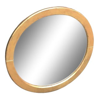 Vintage Round Wall Mirror For Sale