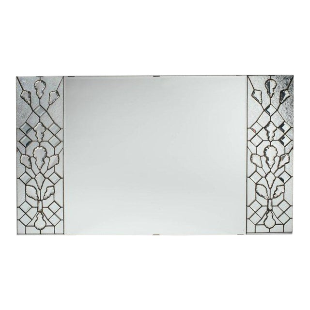 Opulent Hollywood Regency Mirror With Large Cut Crystals, 1940's For Sale