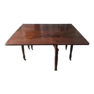 Antique English Flame Mahogany Drop-Leaf Table For Sale