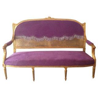 Louis XVI Purple Sofa