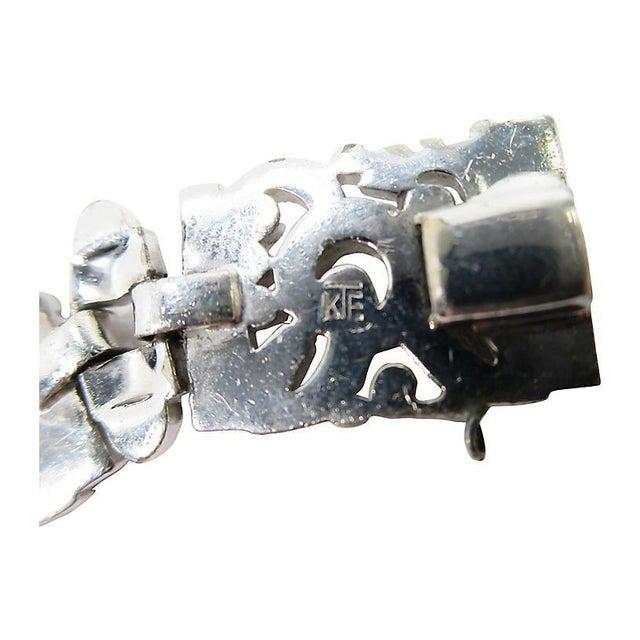 Glass Art Deco Ktf Trifari Crystal & Rhodium Bracelet, 1930s For Sale - Image 7 of 8