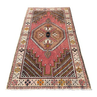 Vintage Turkish Anatolian Rug - 3′10″ × 7′4″ For Sale