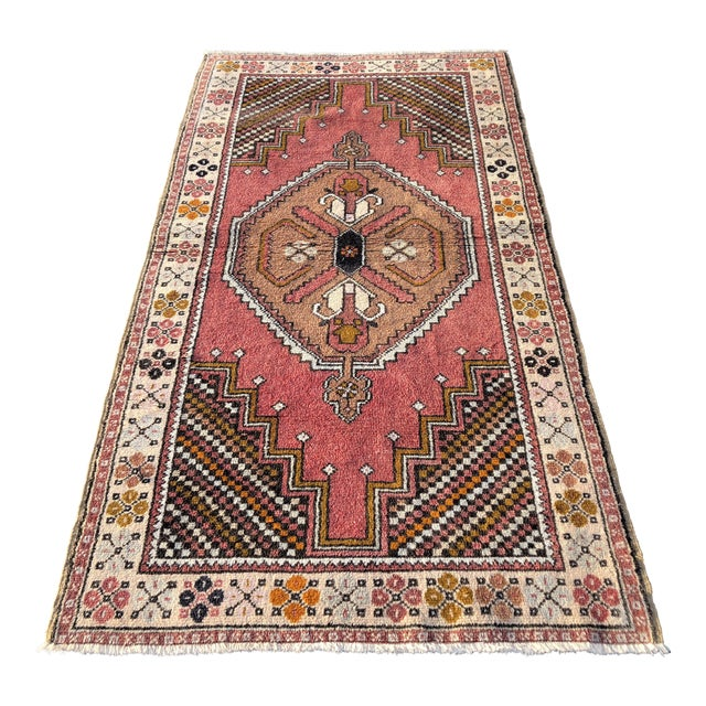 Vintage Turkish Anatolian Rug - 3′10″ × 7′4″ For Sale
