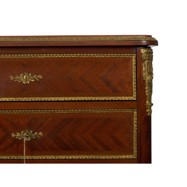 19th Century French Antique Dressing Table Commode Chest of Drawers For Sale - Image 9 of 13