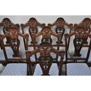 Late 19th Century Antique Mahogany Georgian Shell Carved Ball and Claw Dining Chairs- Set of 8 Preview