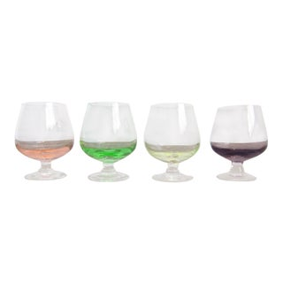 Vintage Multicolored Cordial Glasses - Set of 4 For Sale