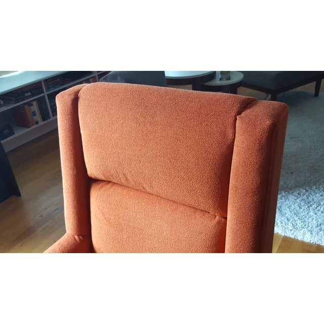 Danish Mid-Century Orange Armchair - Image 5 of 6