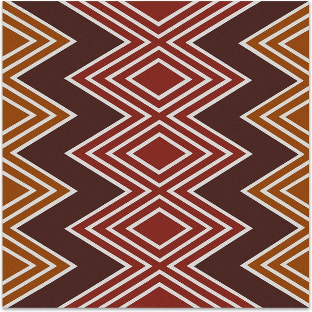 """1970s """"Diamonds"""" Supergraphic by Ruth Fuller - Image 1 of 3"""