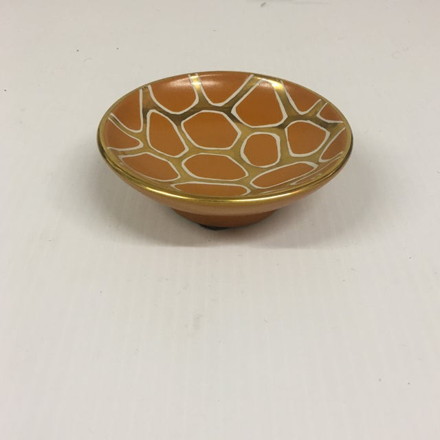 Contemporary Giraffe Pattern Bowl For Sale In Palm Springs - Image 6 of 6